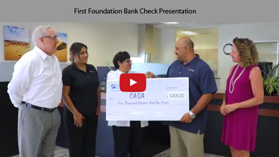 First Foundation Bank Check Presentation